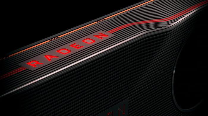 An AMD graphics card.