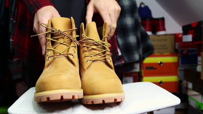 A pair of Timberland boots