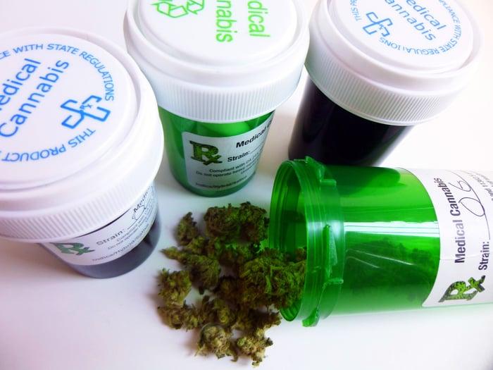 medical marijuana prescription bottles