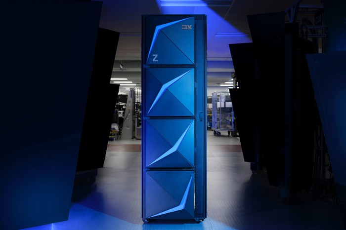 The IBM z15 mainframe.