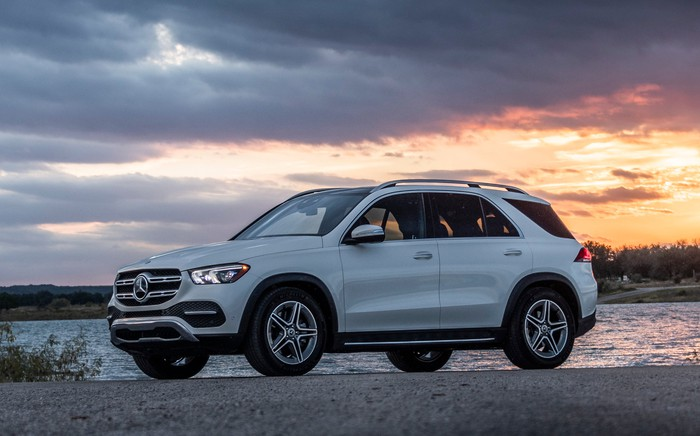 A 2019 Mercedes-Benz GLE, a midsize luxury crossover SUV.