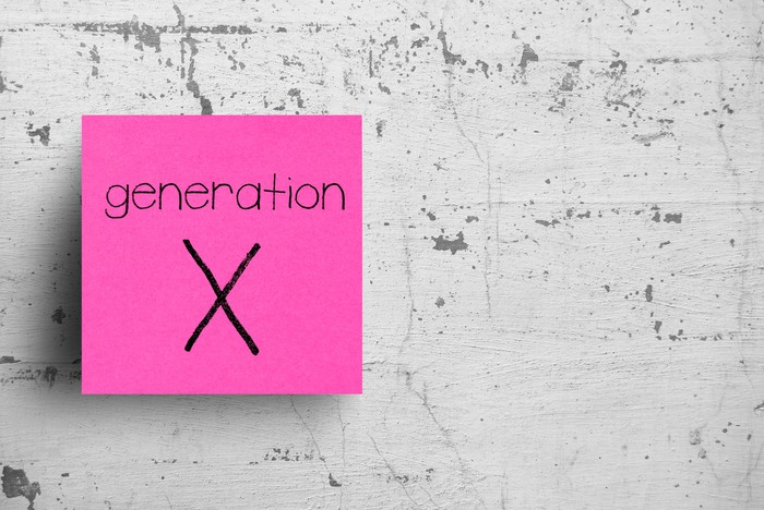 Generation X written on pink sticky note