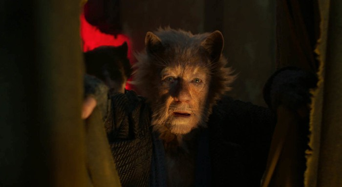 Sir Ian McKellen as Gus, the Theatrical Cat, from NBCUniversal's Cats.