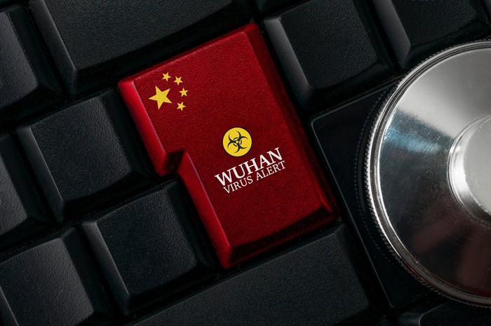 Wuhan Virus Alert on a keyboard
