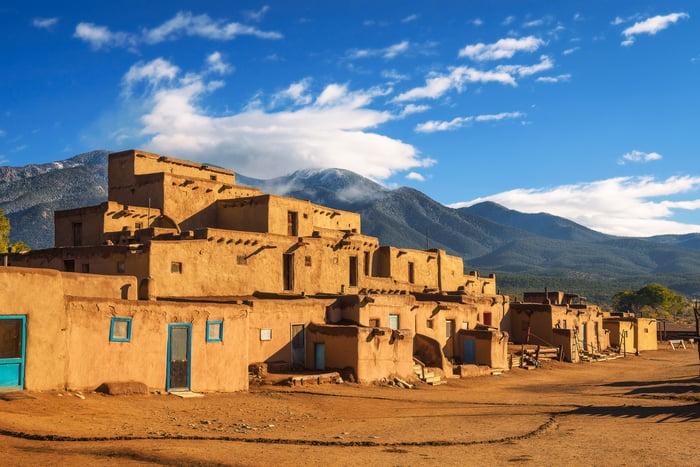 Taos Pueblo in New Mexico.