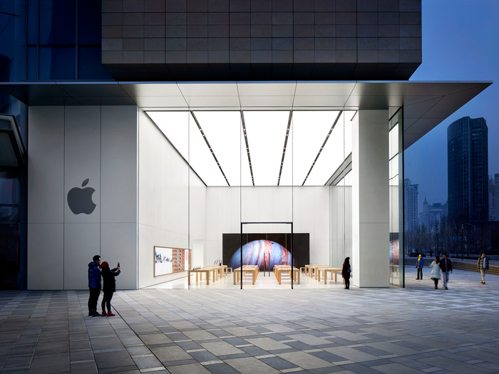 The Apple Store in Qingdao China.
