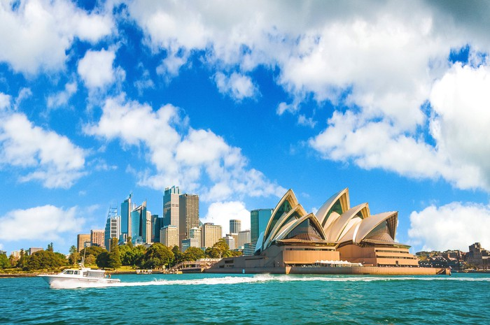 Sydney Australia from the water.