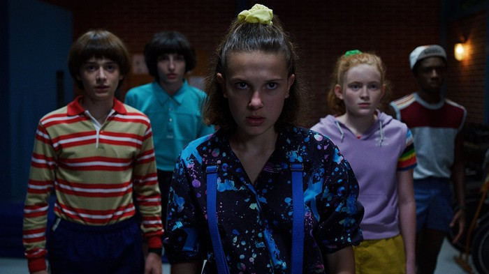Five of the characters from Netflix's Stranger Things