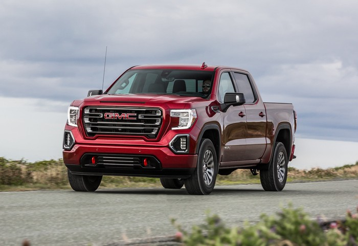 A 2020 GMC Sierra AT4 pickup truck.