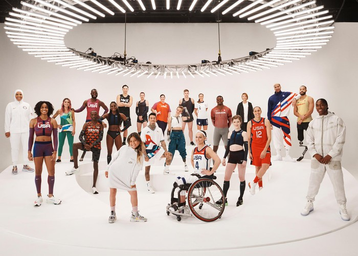 Group of athletes in Nike apparel