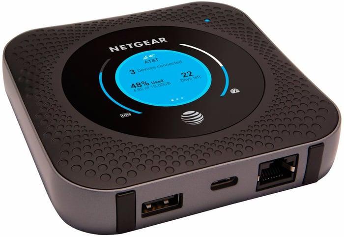 A Netgear Nighthawk MR1100 LTE router.