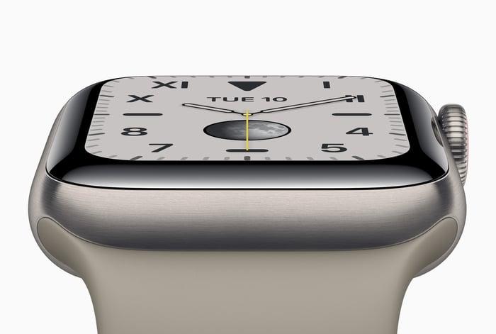 Apple Watch Series 5 in titanium