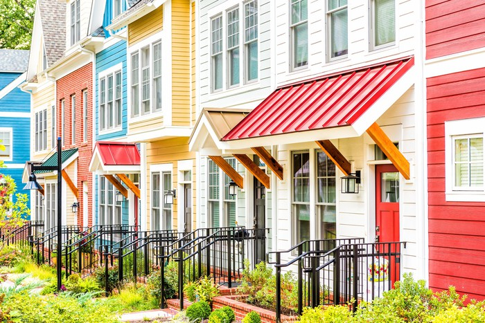 Colored house siding and roofing