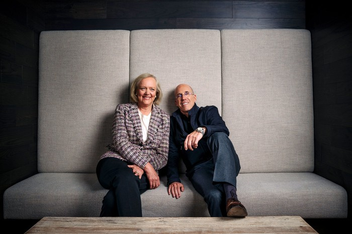 Quibi CEO Meg Whitman and founder Jeffrey Katzenberg.