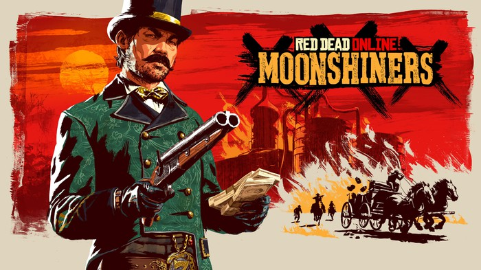 Game art of Take-Two's Red Dead Online's Moonshiners' in-game update.