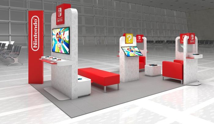 Nintendo airport lounge