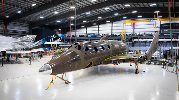 Second Virgin Galactic SpaceShipTwo under construction