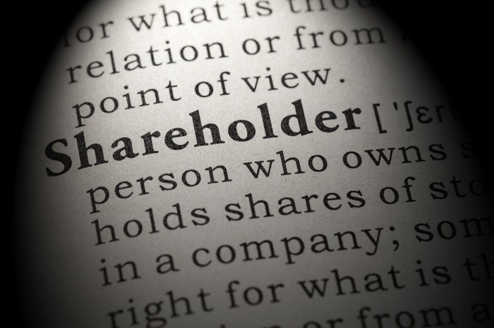 A dictionary definition of shareholder.