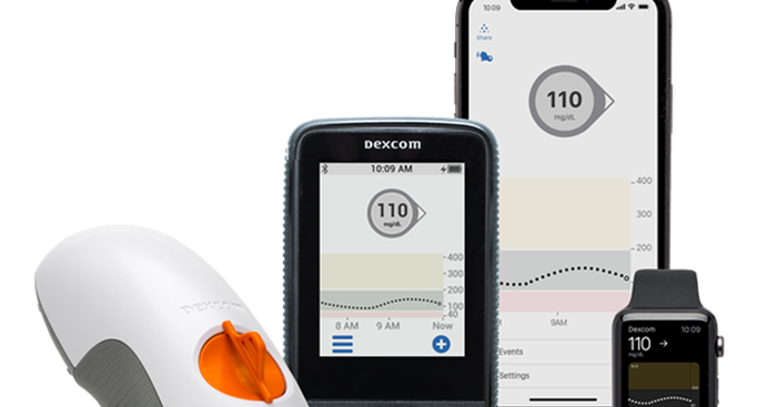 DexCom continuous glucose monitoring apps and devices
