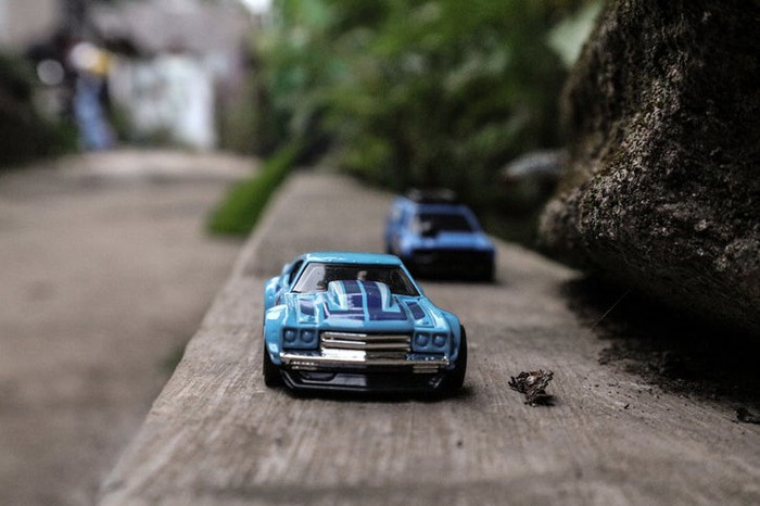 Tiny toy cars