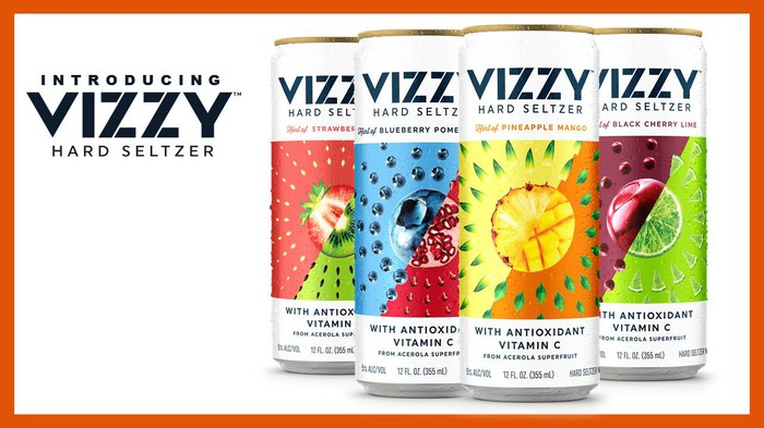 Cans of Molson Coors Vizzy hard seltzer