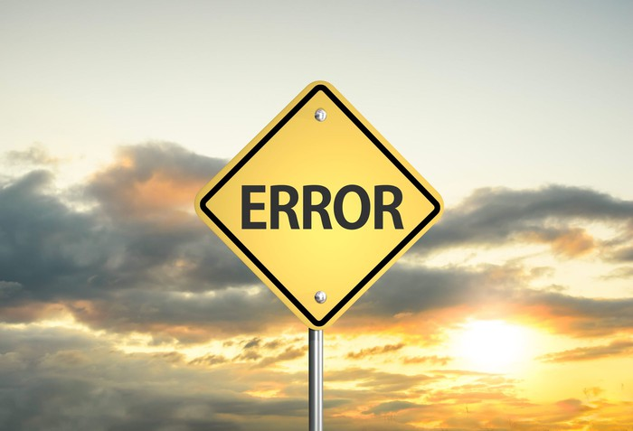 "Road sign that says, ""Error""."