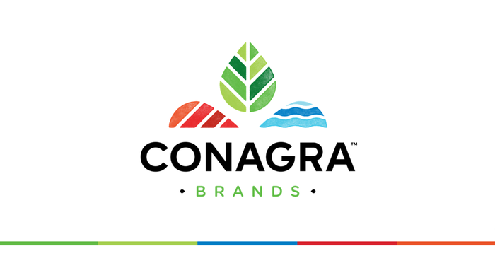 Conagra Brands' corporate logo in red, green, and blue.
