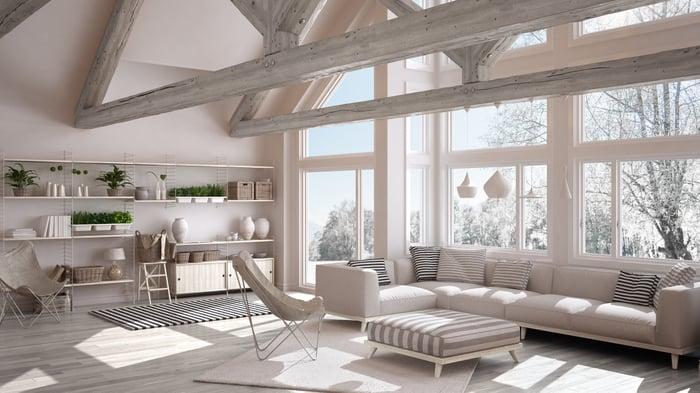 Contemporary living room design.