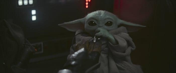 Baby Yoda in Disney's The Mandalorian