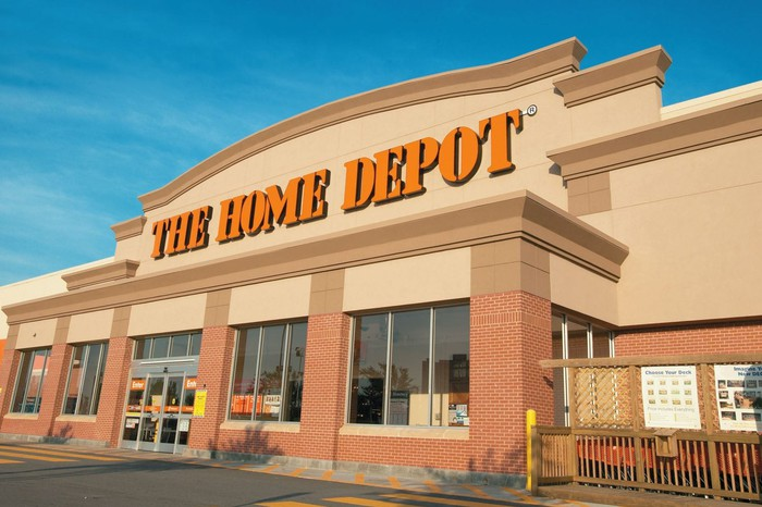 A Home Depot store.