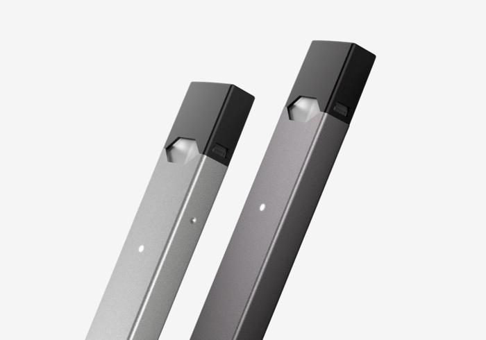 Two Juul e-cigarettes.