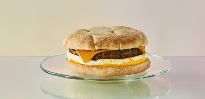 New Beyond Meat Cheddar and Egg Sandwich from Starbucks.