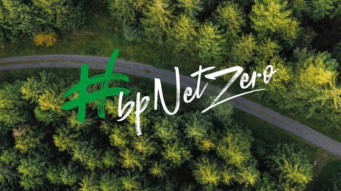 BP photo with #bpnetzero logo