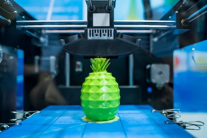A 3D-printed pineapple