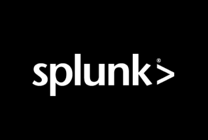 The Splunk logo in white against a black background