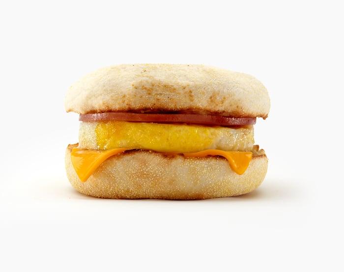 A classic Egg McMuffin.