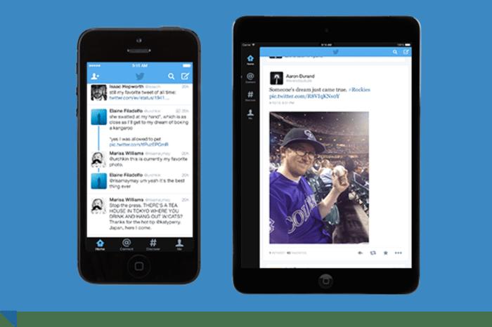 Screen capture of Twitter on smartphone