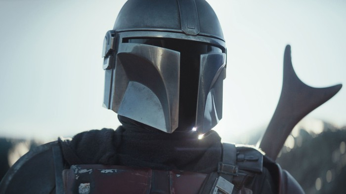 A still from Disney+'s The Mandalorian.