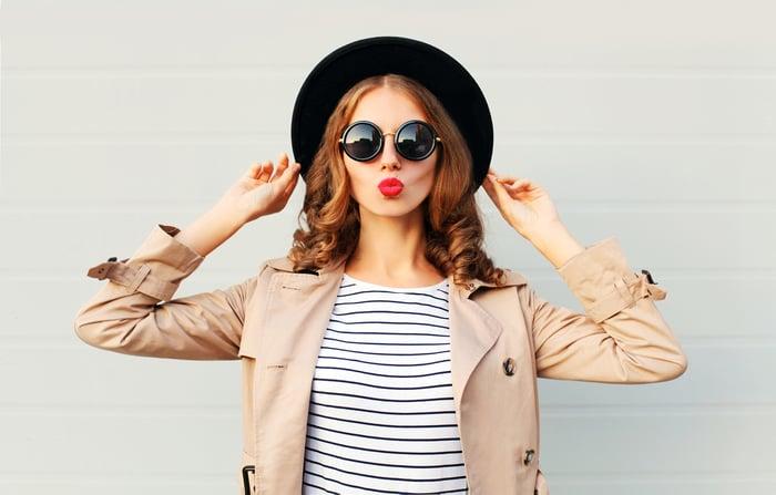 Stylishly dressed woman