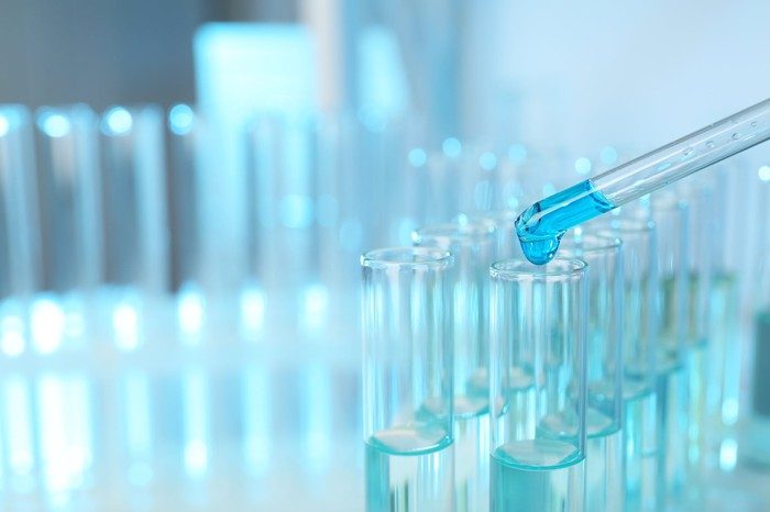 Test tubes in a lab.