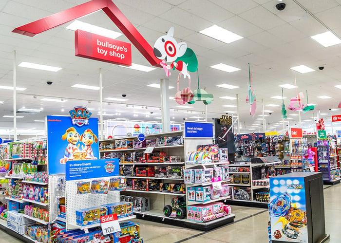 Target holiday setup.