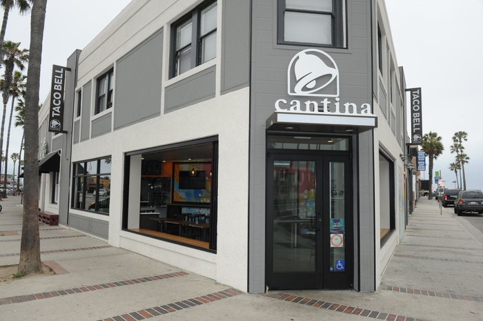 A Taco Bell Cantina storefront.