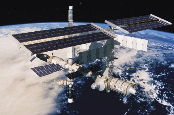 International Space Station in orbit around Earth