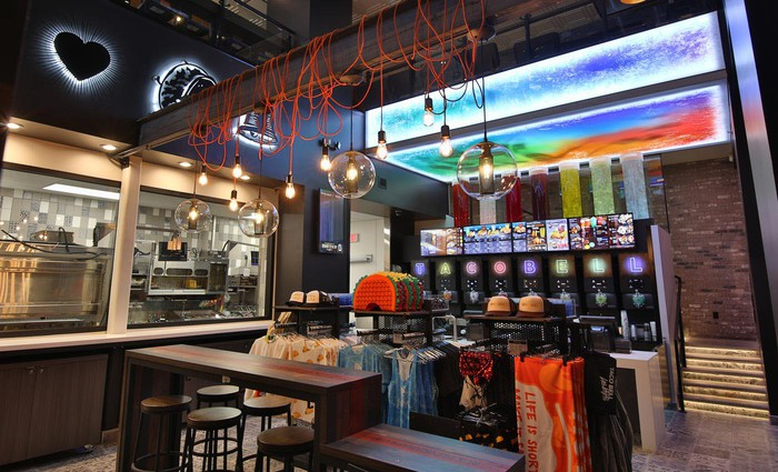 Interior of a Taco Bell Cantina