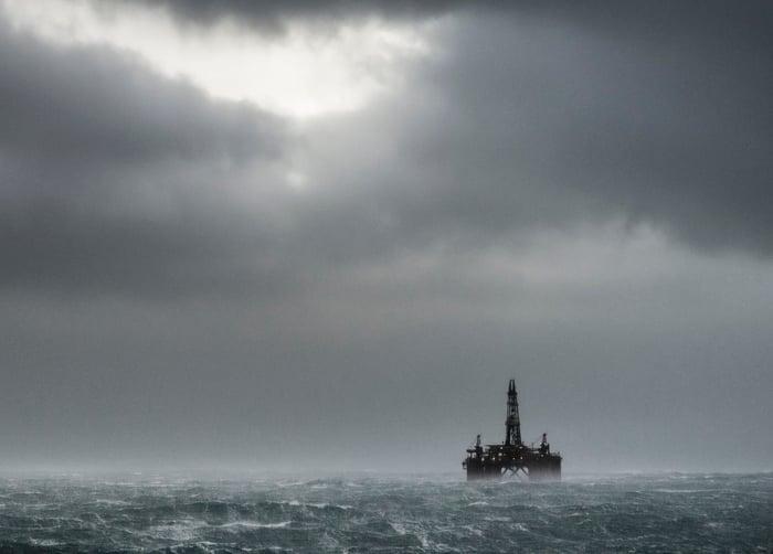 Offshore drilling platform.