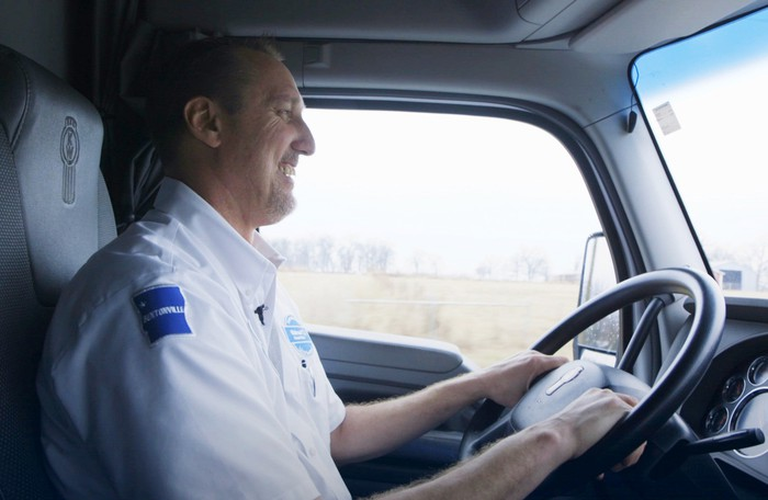 A Walmart truck driver.