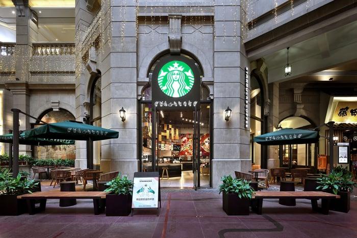 Starbucks cafe in China.