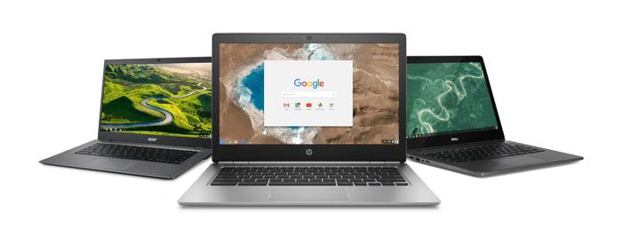Google G Suite app logos on a computer screen.