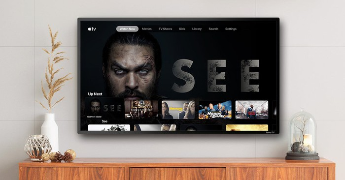 Apple TV+ interface displayed on a Roku smart TV