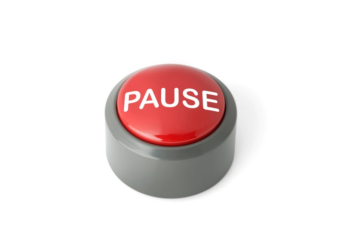 Big red pause button